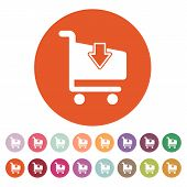 image of cart  - The cart shoping icon - JPG