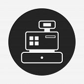 image of cash register  - Cash Register Icon - JPG