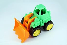 picture of dredge  - Small bulldozer toy - JPG