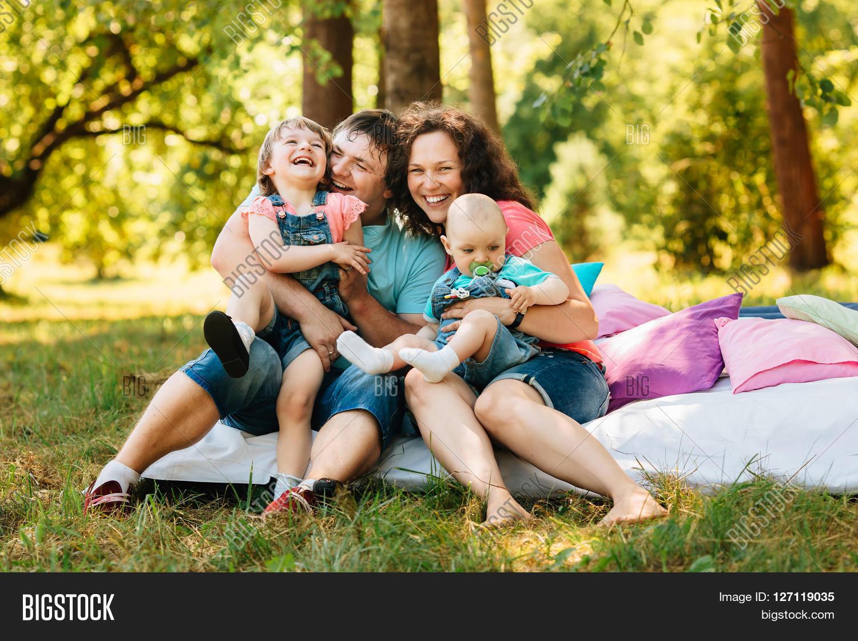 Young Happy Family Kids Having Image Amp Photo Bigstock