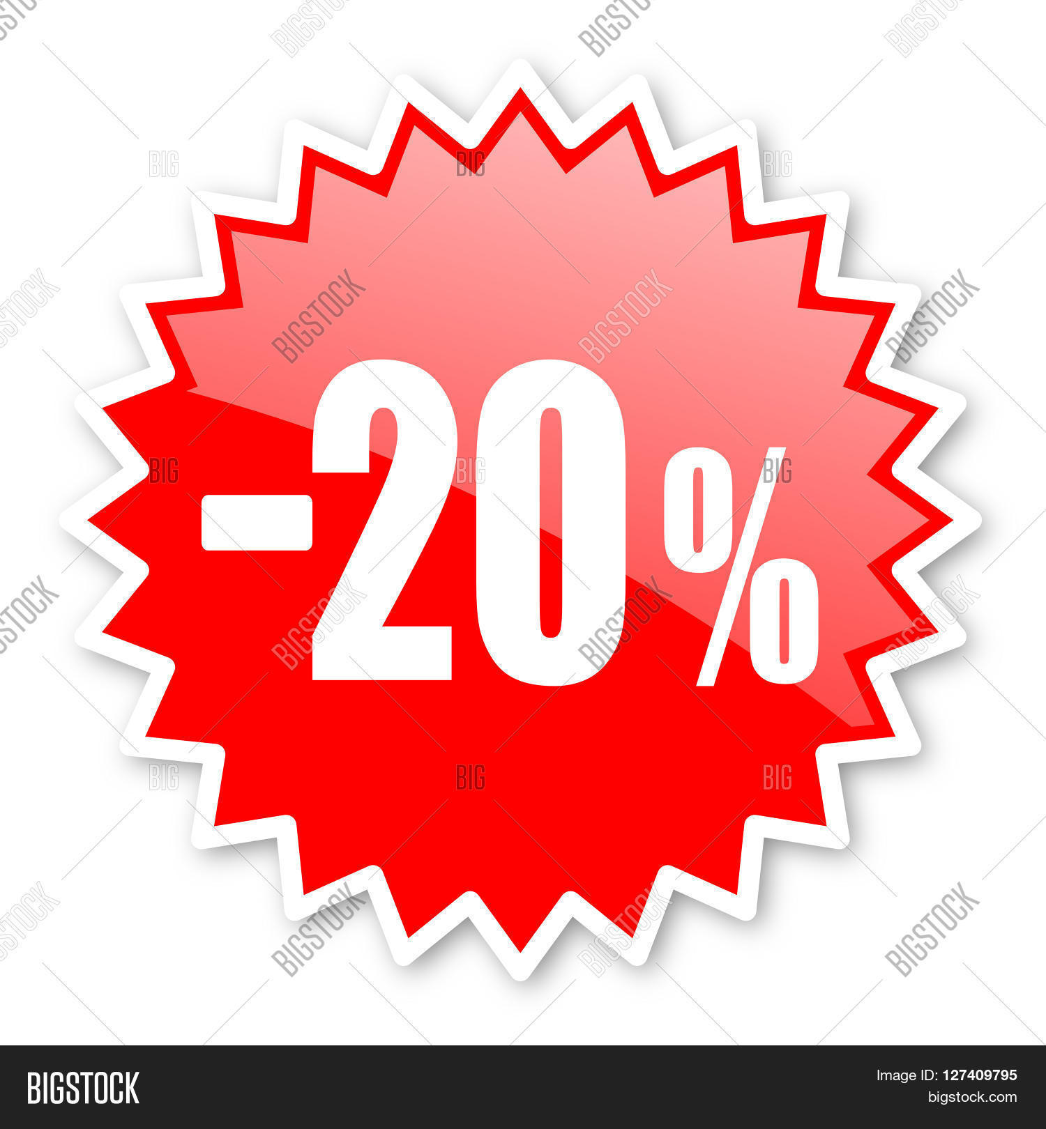 20 percent sale retail red tag image photo bigstock. Black Bedroom Furniture Sets. Home Design Ideas