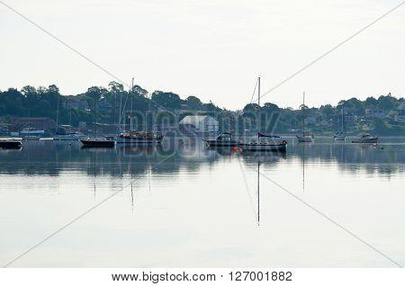 Picture of the Harbor of Lunenburg Nova Scotia Canada.