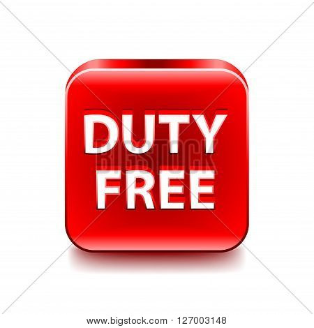Duty free icon isolated on white vector illustration