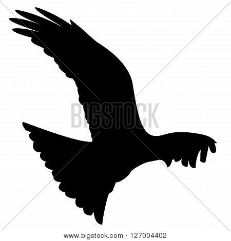 a black silhouette of a flying eagle