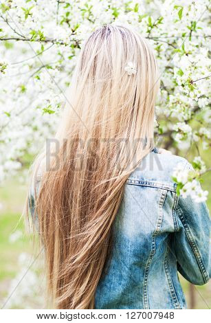 Beauty Young Girl Outdoors