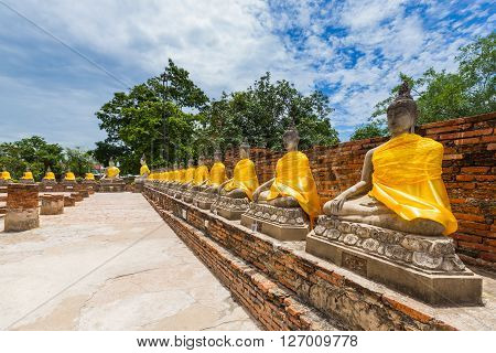 Wat yai chai mongkhon is a Buddhist temple in Ayutthaya Thailand.