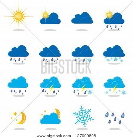 an illustration of different types of weather