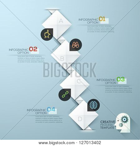 Modern business step origami style options banner. Vector illustration. can be used for workflow layout, diagram, number options, step up options, web template, infographics.