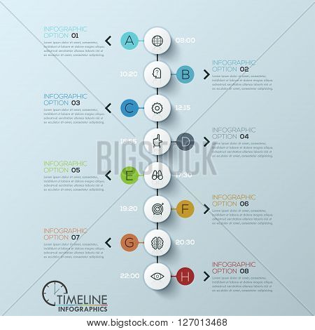 Modern business circle style options banner. Vector illustration. can be used for workflow layout, diagram, number options, step up options, web design, infographics.