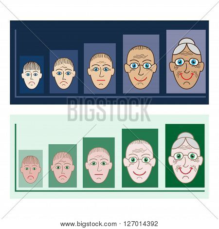 Presentation for different age groups, illustration, people