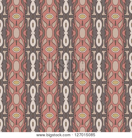 abstract modern ethnic seamless vector fabric pattern