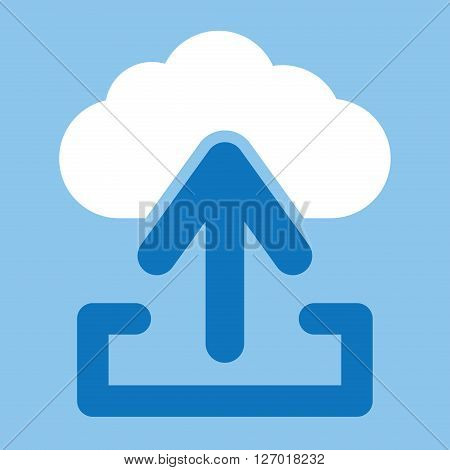 Upload from cloud icon. Load symbol. Upload button
