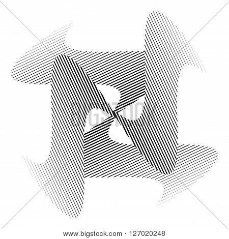Design Monochrome Illusion Decorative Background
