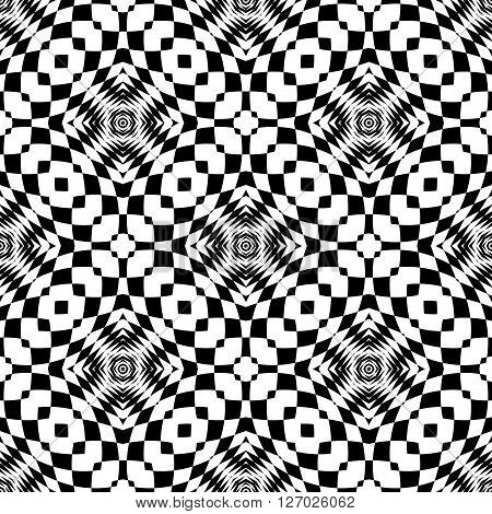 Design Seamless Monochrome Checkered Background