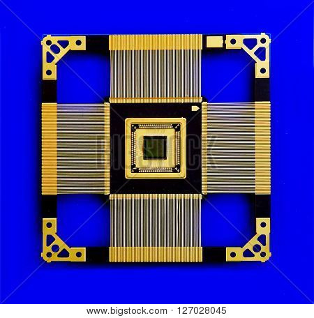 the microprocessor within the processing on a blue background