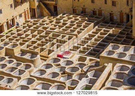 Chouwara tannery in Fez, Morocco.