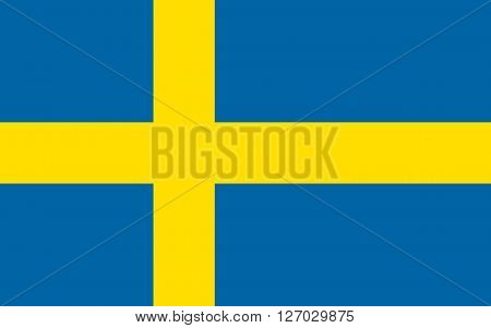 Flag of Sweden in correct proportions and colors