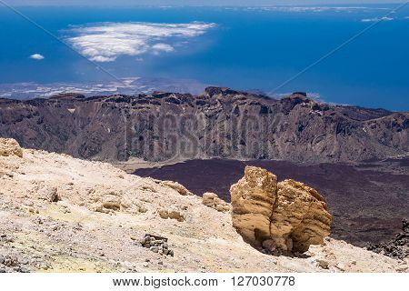 A landscape on the canarian island Tenerife.