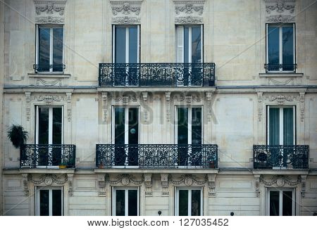 Typical French style architecture in Paris.