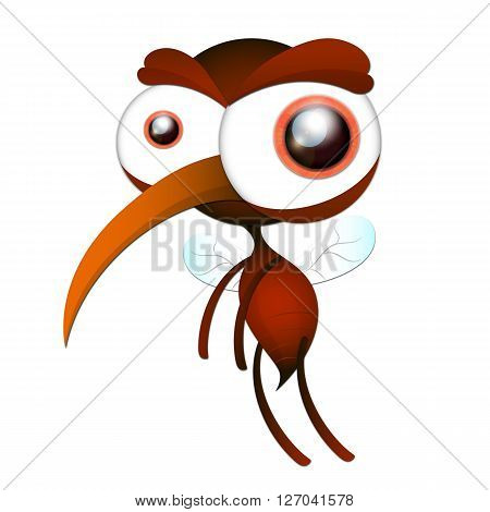 Insect. a realistic mesquite. Mosquito silhouette. Mosquito isolated on white background. mosquito. mosquito. Vector illustration