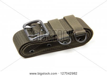 Military belt isolated on a white background