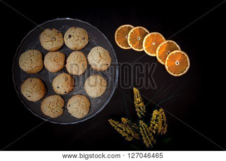 Orange Cookies With Chocolate Chips