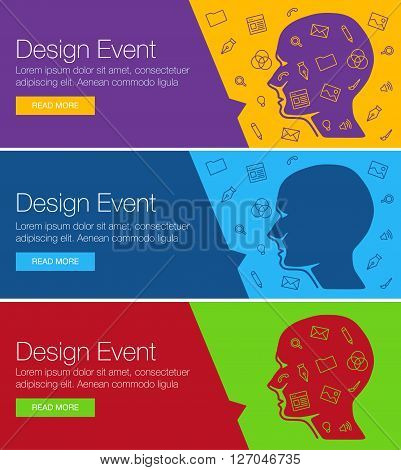 Poster for online course training workshop. Banner for web site ...