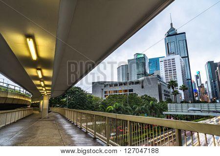 downtown district,hongkong china.