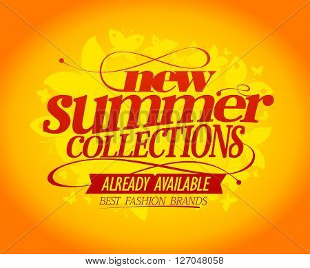 New summer collections advertising design