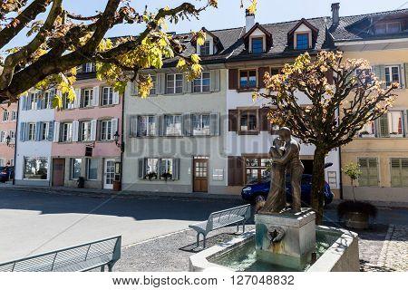 Old Town Mellingen In Switzerland