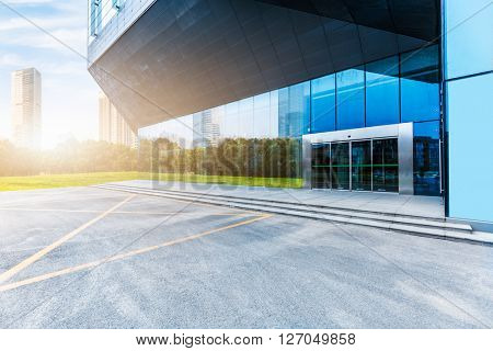 modern building entrance background,shanghai china.