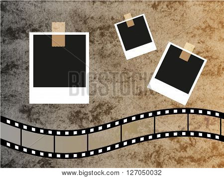 Scrap vintage set of photo frames vector