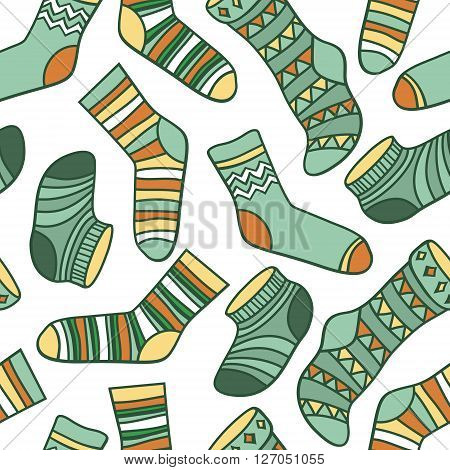 Vector Seamless Abstract Pattern With Socks