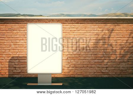 Blank Billboard Brick