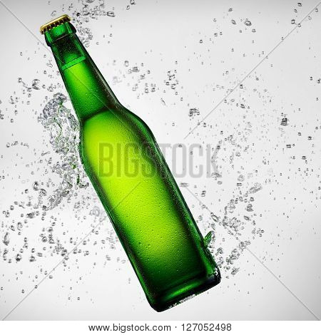 Beer Bottle Under Water