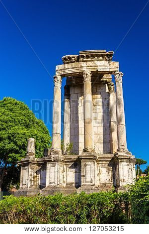 Temple of Vesta in the Roman Forum, Rome, Italy