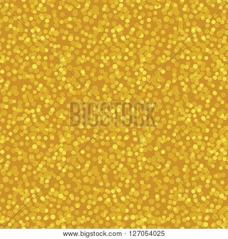 Seamless dotted pattern, golden glowing background texture, vector illustration