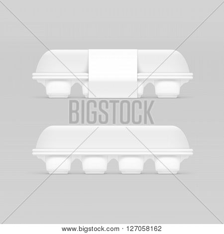 Vecto Illustration of White Egg Box Isolated on Background
