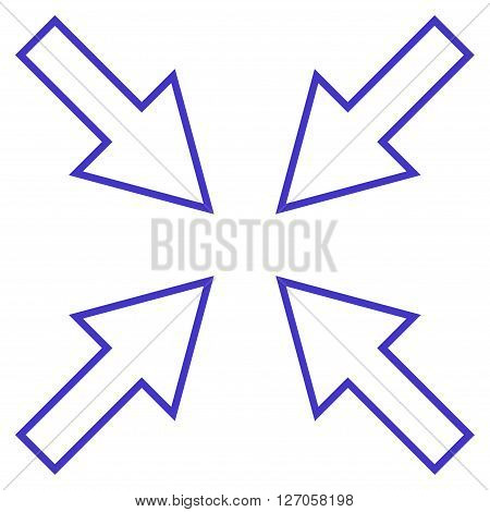 Compact Arrows vector icon. Style is thin line icon symbol, violet color, white background.