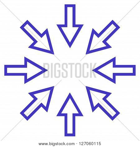 Pressure Arrows vector icon. Style is outline icon symbol, violet color, white background.
