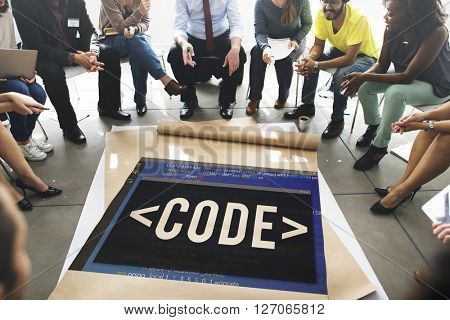 Code Coding Programming Technology Technical Concept