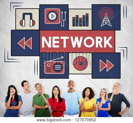 Network Internet Matrix Connection Domain Concept