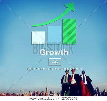 Growth Improvement Success Development Website Concept
