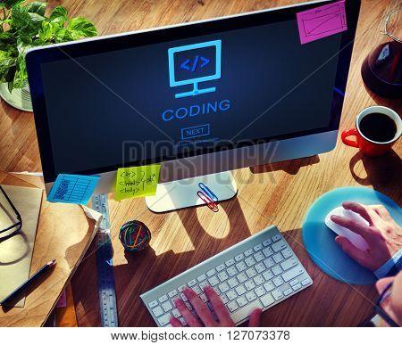 Coding Code Data Process Programming Concept