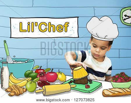 Lil' Chef Cooking Kid Child Culinary Food Concept