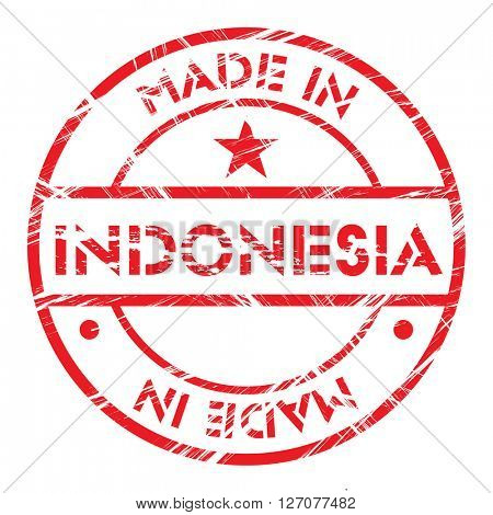 Made in Indonesia grunge rubber stamp