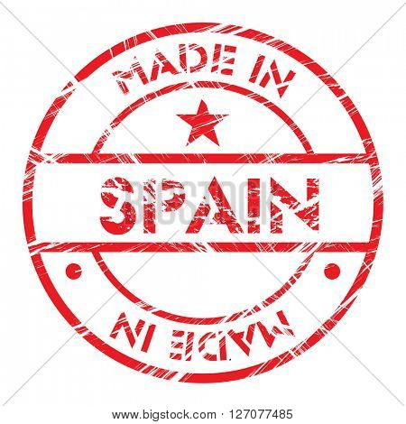 Made in Spain grunge rubber stamp