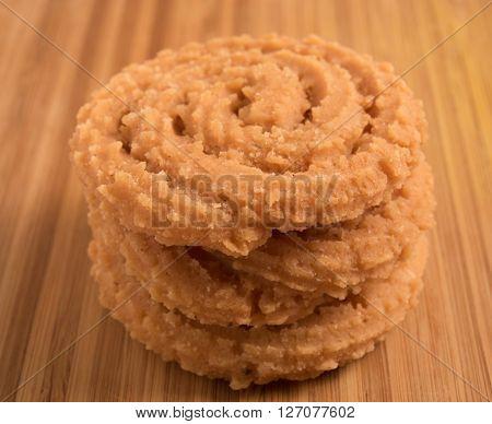 Murukku - savoury a crunchy South Indian snack.