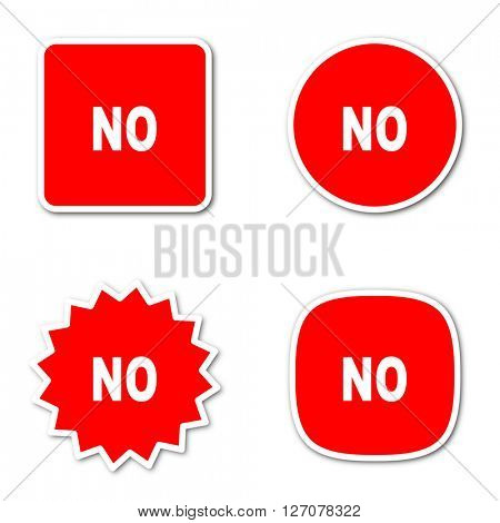 no simple red web internet icon set flat design sticker tag