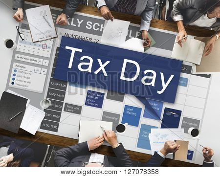 Tax Day Taxation Financial Money Money Concept